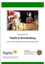 Broschüre Papilio in Brandenburg