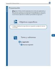 Presentación Tema y subtemas Objetivos específicos