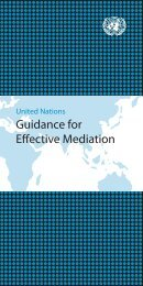 UN Guidance for Effective Mediation - the United Nations