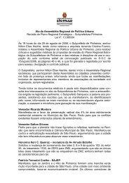 1 Ata da Assembléia Regional de Política Urbana Revisão do Plano ...