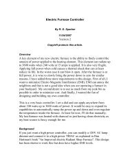 Electric Furnace Controller Version 2 A key element ... - Rick Sparber