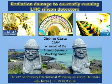 Radiation Damage to Currently Running LHC Silicon ... - Vertex 2012