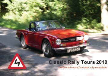 2010 Brochure (PDF) - Classic Rally Tours