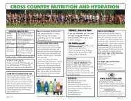 cross country nutrition and hydration - Athens Drive High School ...