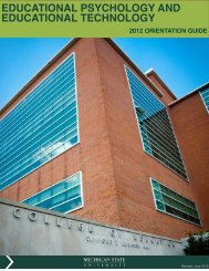 EPET Orientation Guide - MSU Educational Psychology and ...