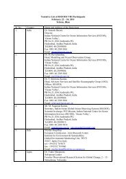 to view Tentative list of participants. - Indian National Centre for ...