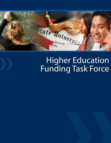 Higher Education Funding Task Force Recommendations
