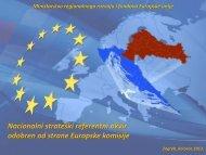 Nacionalni strateški referentni okvir odobren od strane Europske ...