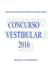 manual do candidato - Faculdade de Ciências Médicas de Minas ...