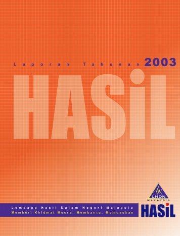 Laporan Tahunan 2003 - Lembaga Hasil Dalam Negeri
