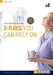 The ORThOPhOS XG uniT family X-RayS - Sirona