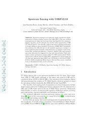 Spectrum Sensing with USRP-E110