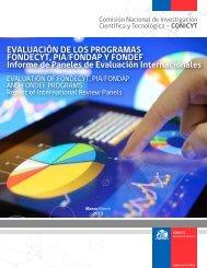 Evaluación de los Programas Fondecyt, PIA, Fondap y ... - Conicyt