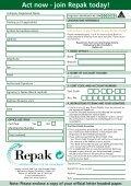 Membership Form - Repak - Page 2
