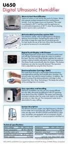 U650 Ultrasonic Humidifier - Page 2