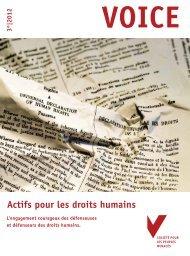 Actifs pour les droits humains
