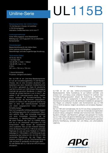Uniline-Serie - APG