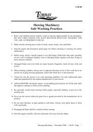 Mowing Machinery Safe Working Practices