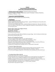 OYSAN Board of Directors Meeting Minutes Friday, May 15, 2009 ...