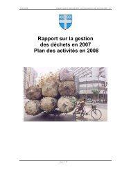 Rapport sur la gestion des déchets en 2007 Plan des ... - Versoix