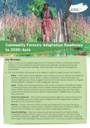 Community Forestry Adaptation Roadmaps to 2020–Asia Key ...