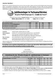 Jubiläumslager in Techuana/Kärnten - Pfadfindergruppe Wien 42 ...