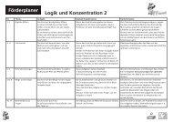 Förderplaner Logik und Konzentration 2