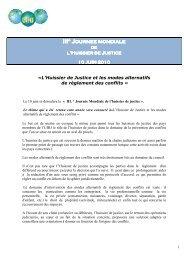 L'Huissier de Justice et les modes alternatifs de règlement des conflits