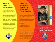 Electrical Construction - Charles County Public Schools