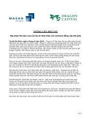 Masan Group mua lại dự án khai thác Vonfram đẳng cấp thế giới