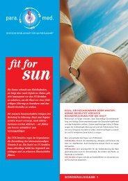 Sun Fun para.med. Broschüre - Binella