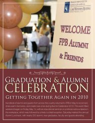 Fellow umni and Friends: - Frances Payne Bolton School of Nursing