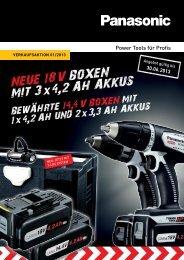 14,4 V und 18 V Set für jede Anwendung - Panasonic Power Tools