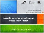 Inovação no sector agro-alimentar O caso InovCluster - Adi
