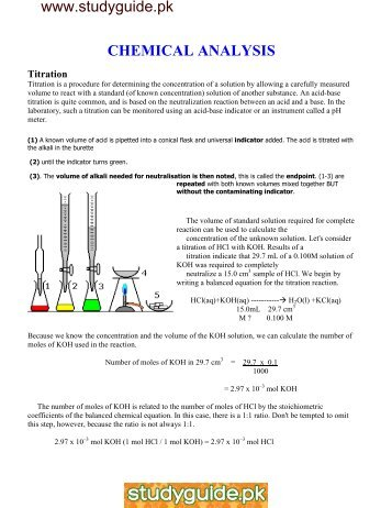 CHEMICAL ANALYSIS.pdf - StudyGuide.PK