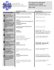 Accelerated Sample Syllabus (pdf) - UCLA Center for Prehospital Care