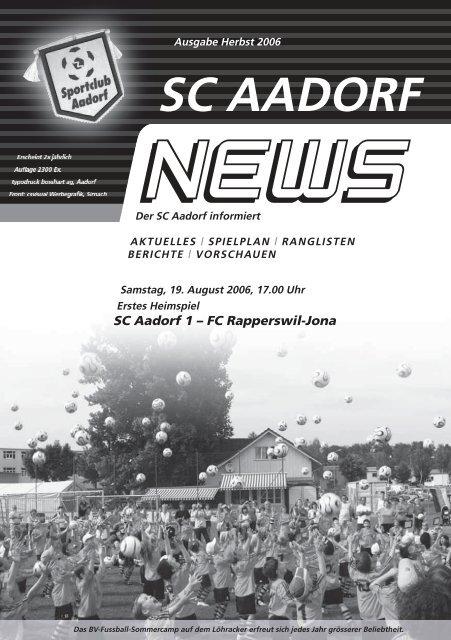 SCA-News Herbst 2006 - SC Aadorf