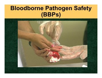 What is a Bloodborne pathogen? - MCCS Camp Lejeune