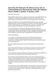 Speech by the Taoiseach, Mr. Brian Cowen, T.D, on National ...