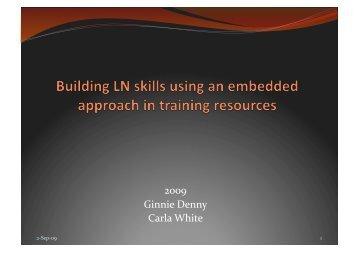 Embedded LN workshop presentation - Industry Training Federation