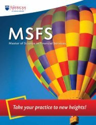 MSFS - The American College