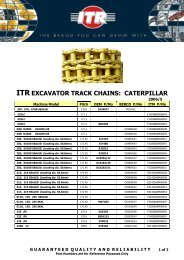 ITR EXCAVATOR TRACK CHAINS: CATERPILLAR - VR Trading