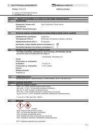 X KÄYTTÖTURVALLISUUSTIEDOTE KEMIKAALI-ILMOITUS ... - Cello