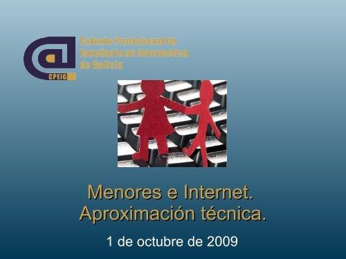 Menores e Internet. Aproximación técnica. - CPEIG
