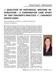 a comparative case study of two teacher's practice - Société des ...