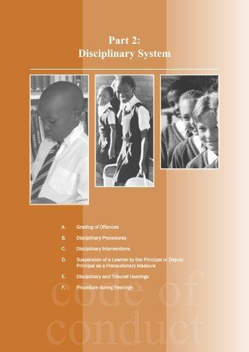 Part 2: Disciplinary System