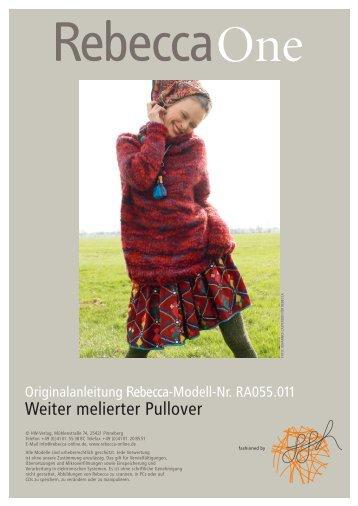 Weiter melierter Pullover - Rebecca