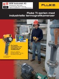 Fluke Ti-serien med industrielle termografikameraer - rental.no