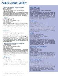 Advanced Cosmetic Intervention, Inc. Aerolase Aesthera Aesthetic ...