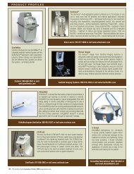 PRODUCT PROFILES - MEDICAL INSIGHT, Inc.